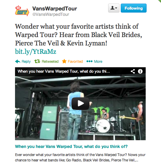 Warped Tour using my video